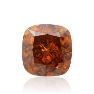 Камень без оправы, бриллиант Цвет: Оранжевый, Вес: 0.57 карат