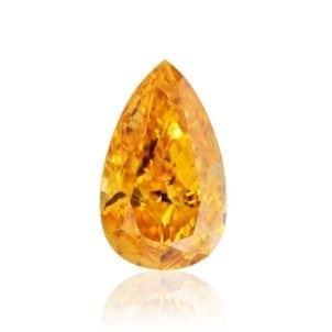 Камень без оправы, бриллиант Цвет: Оранжевый, Вес: 0.53 карат