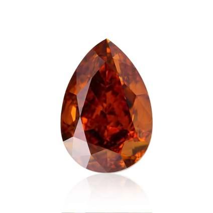 Камень без оправы, бриллиант Цвет: Оранжевый, Вес: 0.66 карат