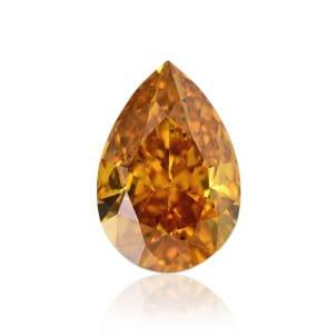 Камень без оправы, бриллиант Цвет: Оранжевый, Вес: 0.72 карат
