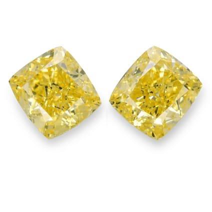 Камень без оправы, бриллиант Цвет: Желтый, Вес: 4.34 карат
