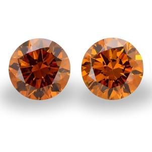 Камень без оправы, бриллиант Цвет: Оранжевый, Вес: 2.03 карат