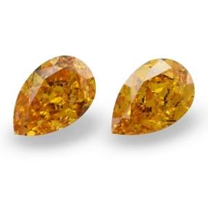 Камень без оправы, бриллиант Цвет: Оранжевый, Вес: 1.23 карат