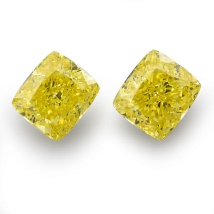 Камень без оправы, бриллиант Цвет: Желтый, Вес: 1.37 карат