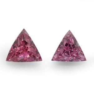 Камень без оправы, бриллиант Цвет: Розовый, Вес: 0.37 карат