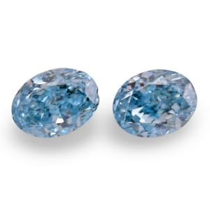 Камень без оправы, бриллиант Цвет: Голубой, Вес: 0.34 карат