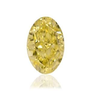 Камень без оправы, бриллиант Цвет: Желтый, Вес: 1.23 карат