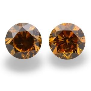 Камень без оправы, бриллиант Цвет: Оранжевый, Вес: 1.01 карат