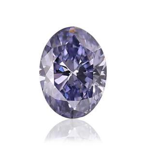 Камень без оправы, бриллиант Цвет: Фиолетовый, Вес: 0.11 карат