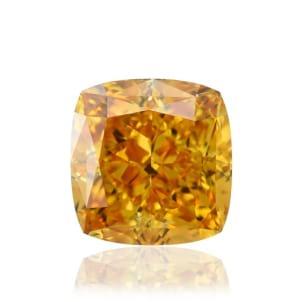 Камень без оправы, бриллиант Цвет: Оранжевый, Вес: 0.55 карат