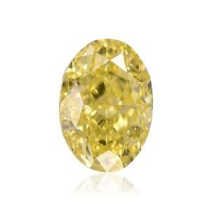 Камень без оправы, бриллиант Цвет: Желтый, Вес: 1.12 карат