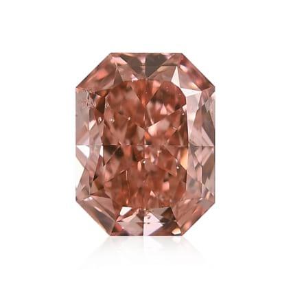 Камень без оправы, бриллиант Цвет: Оранжевый, Вес: 0.76 карат