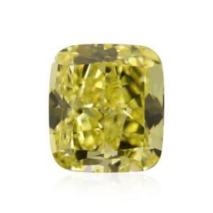 Камень без оправы, бриллиант Цвет: Желтый, Вес: 1.55 карат