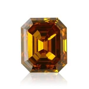 Камень без оправы, бриллиант Цвет: Оранжевый, Вес: 0.28 карат