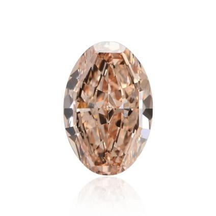 Камень без оправы, бриллиант Цвет: Оранжевый, Вес: 6.71 карат
