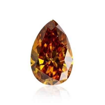 Камень без оправы, бриллиант Цвет: Оранжевый, Вес: 0.27 карат