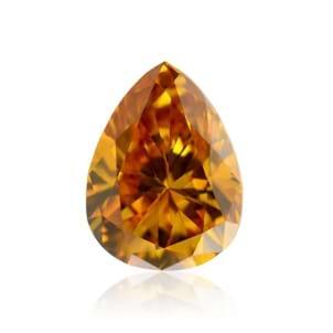 Камень без оправы, бриллиант Цвет: Оранжевый, Вес: 0.17 карат
