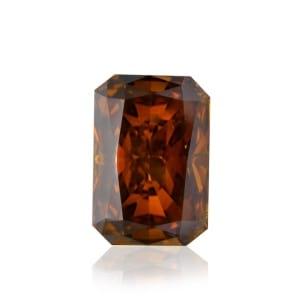 Камень без оправы, бриллиант Цвет: Оранжевый, Вес: 0.74 карат