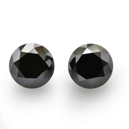 Камень без оправы, бриллиант Цвет: Черный, Вес: 4.83 карат