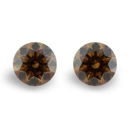 Камень без оправы, бриллиант Цвет: Коричневый, Вес: 0.39 карат