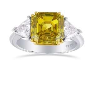 Кольцо, бриллиант Цвет: Желтый, Вес: 3.18 карат