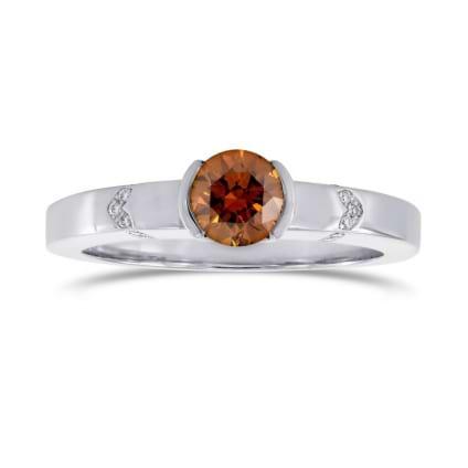 Кольцо, бриллиант Цвет: Оранжевый, Вес: 0.53 карат