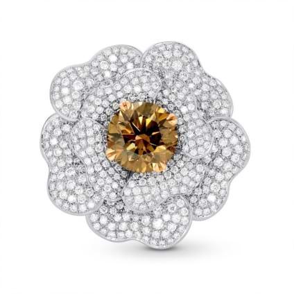 Кольцо, бриллиант Цвет: Коричневый, Вес: 3.40 карат