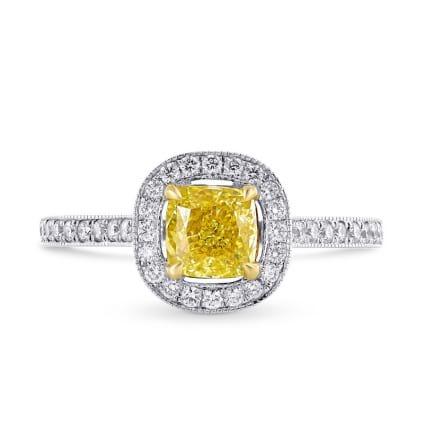 Кольцо, бриллиант Цвет: Желтый, Вес: 0.80 карат