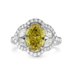 Fancy Dark Brownish Greenish Yellow Diamond Cocktail Ring 824484