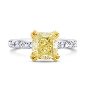 Internally Flawless Fancy Yellow Cushion Diamond 862122