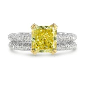 Fancy Intense Yellow Radiant Diamond Wedding Set 912732
