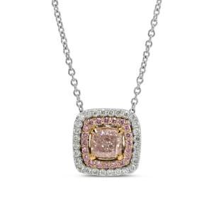Light Pink Cushion Diamond Pendant 954708