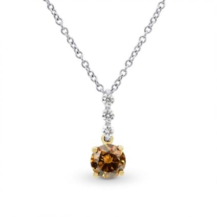 Fancy Deep Yellowish Orange Diamond Drop Pendant 990312