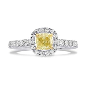 Fancy Yellow Cushion Diamond Halo Ring 994536
