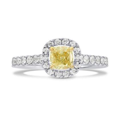 Fancy Yellow Cushion Diamond Halo Ring 994536