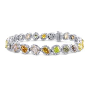 All Natural Multicolor Diamond Bracelet 1063254