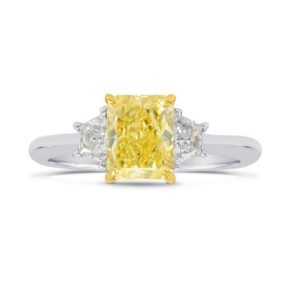 Fancy Intense Yellow VVS1, Radiant Diamond Ring 1107774