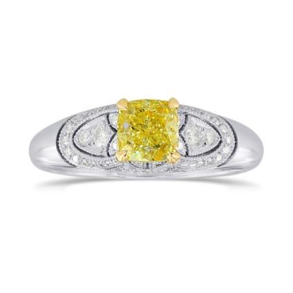 Кольцо, бриллиант Цвет: Желтый, Вес: 0.74 карат