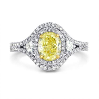 Fancy Light Yellow Oval Diamond Dress Ring 1170792