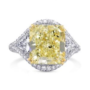 Extraordinary Light Yellow Radiant Diamond Dress Ring 1178760
