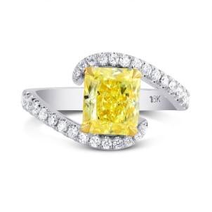 Fancy Intense Yellow Radiant Diamond Ring 1195248