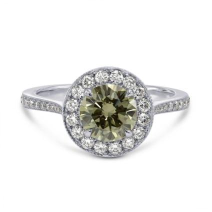 Кольцо, бриллиант Цвет: Хамелеон, Вес: 1.02 карат