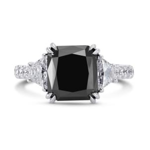 Natural unheated Fancy Black Diamond Engagement Ring 1331814