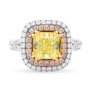 Fancy Yellow Radiant Double Halo Ring 1338030