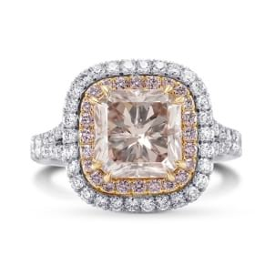 Fancy Brown Pink Radiant Double Halo Ring 1338030