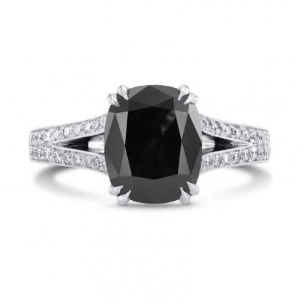 Кольцо, бриллиант Цвет: Черный, Вес: 3.05 карат