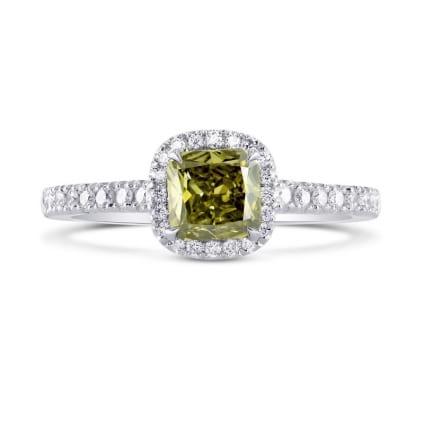 Кольцо, бриллиант Цвет: Хамелеон, Вес: 0.68 карат