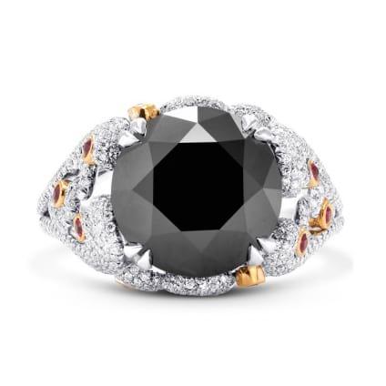 Кольцо, бриллиант Цвет: Черный, Вес: 7.11 карат