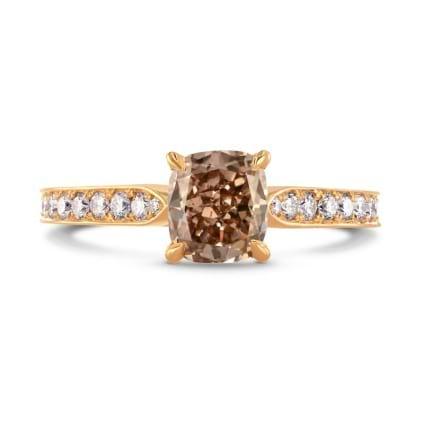Кольцо, бриллиант Цвет: Коричневый, Вес: 1.32 карат