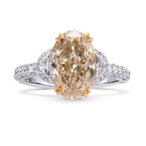Very Light Brown Oval Diamond Ring 1428078